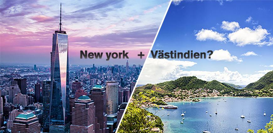 New york + Västindien?
