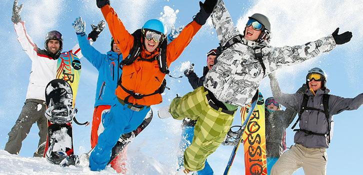Happy ski student