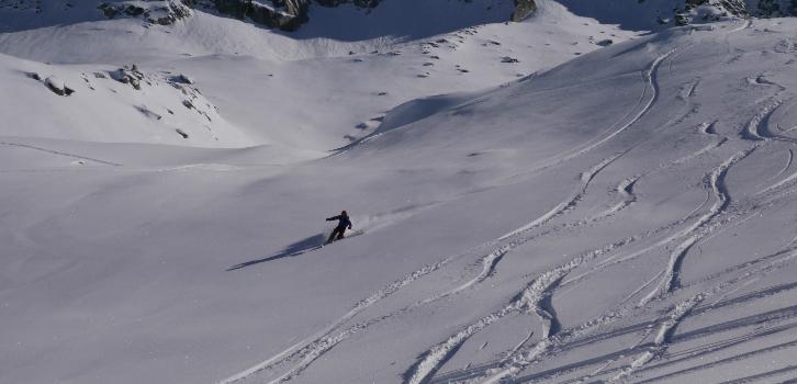 Telemark off pist expert glaciär